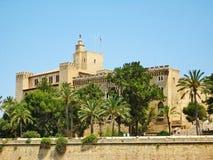 Royal Palace Palacio Real de La Almudaina, Palma de Majorca. Palma de Majorca, Spain - June 25, 2008: Royal Palace of La Almudaina in Palma de Mallorca, view Stock Image