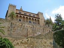 Royal Palace Palacio Real de La Almudaina, Palma de Majorca. Palma de Majorca, Spain - June 25, 2008: Royal Palace of La Almudaina in Palma de Mallorca, view Royalty Free Stock Image