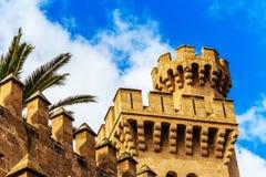 The Royal Palace in Palma de Mallorca, Spain Stock Photo