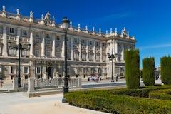 Royal Palace and park at Madrid Spain Royalty Free Stock Image