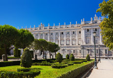 Royal Palace and park at Madrid Spain Stock Photography