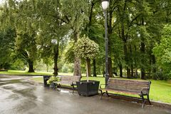 The Royal Palace park in Oslo. Norway Royalty Free Stock Photo