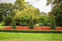 The Royal Palace park in Oslo. Norway Stock Photos
