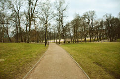 The royal palace park. A park surrounding The royal palace in Olso Stock Images