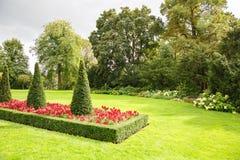 Royal Palace parkuje w Oslo Obrazy Stock