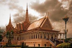 Royal Palace in Phnom Pehn de hoofdstad van Kambodja Royalty-vrije Stock Fotografie