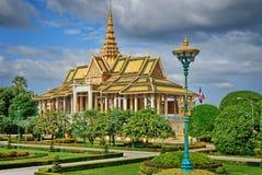 Royal Palace in Phnom Pehn de hoofdstad van Kambodja Royalty-vrije Stock Afbeeldingen