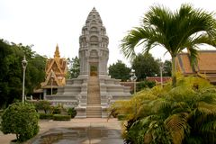 Royal palace, Phnom Pen. Cambodia Royalty Free Stock Photo