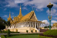The Royal Palace in Phnom Penh. The royal palace in Cambodias capital Phnom Penh Royalty Free Stock Photos