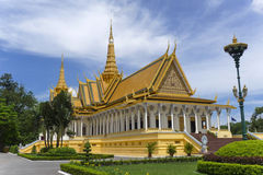 Royal Palace Phnom Penh Stock Afbeelding