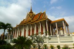 Royal Palace in Phnom Penh Stock Afbeeldingen