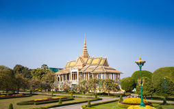 Royal Palace in Phnom Penh Royalty-vrije Stock Fotografie