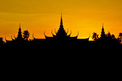 Royal Palace, Phnom Penh Image stock