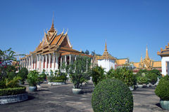 Royal Palace Phnom Penh Stock Afbeeldingen