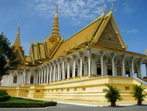 Royal Palace of Phnom Penh. Exterior view of Royal Palace of Phnom Penh Throne Hall, Cambodia Stock Photos