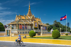 Royal Palace in Phnom Penh, Cambodge Royalty-vrije Stock Foto's