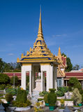 The Royal Palace in Phnom Penh, Cambodia. Pavilion built as a shelter for an equestrian statue of King Norodom at the Royal Palace in Phnom Penh, Cambodia Royalty Free Stock Photos
