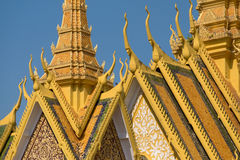The Royal palace in Phnom Penh Stock Images