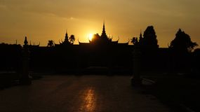 The Royal Palace in Phnom Penh, Cambodia royalty free stock image