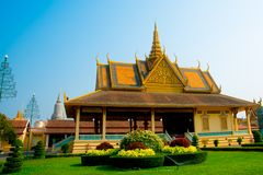 The Royal palace in  Phnom Penh, Cambodia. Stock Photos