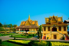 The Royal palace in  Phnom Penh, Cambodia. Royalty Free Stock Photography