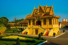 The Royal palace in  Phnom Penh, Cambodia. Royalty Free Stock Image