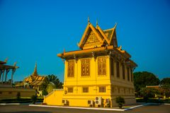 The Royal palace in  Phnom Penh, Cambodia. Royalty Free Stock Photo