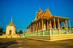 The Royal palace in  Phnom Penh, Cambodia. Beautiful religious Denmark in the capital of Cambodia.The Royal palace in  Phnom Penh Stock Image
