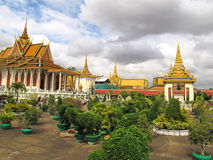 Royal Palace - Phnom Penh - Cambodia. The Royal Palace in Phnom Penh, Cambodia, is a complex of buildings which serves as the royal residence of the king of Royalty Free Stock Image