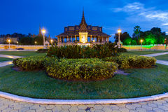 The Royal Palace in Phnom Penh. Cambodia, is a complex of buildings which serves as the royal residence of the king of Cambodia Royalty Free Stock Photography