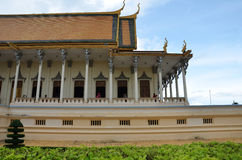 Royal palace in Phnom Penh, Cambodia. PHNOM PENH, CAMBODIA - OCT 22, 2016: The Royal Palace is a complex of buildings which serves as the royal residence of the Stock Image