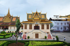 Royal palace in Phnom Penh, Cambodia. PHNOM PENH, CAMBODIA - OCT 22, 2016: The Royal Palace is a complex of buildings which serves as the royal residence of the Royalty Free Stock Image