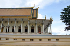 Royal palace in Phnom Penh, Cambodia. PHNOM PENH, CAMBODIA - OCT 22, 2016: The Royal Palace is a complex of buildings which serves as the royal residence of the Stock Images