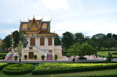 Royal palace in Phnom Penh, Cambodia. PHNOM PENH, CAMBODIA - OCT 22, 2016: The Royal Palace is a complex of buildings which serves as the royal residence of the Stock Photos