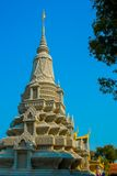 The Royal palace in  Phnom Penh, Cambodia, stupa Royalty Free Stock Images