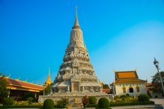 The Royal palace in  Phnom Penh, Cambodia, stupa Royalty Free Stock Image