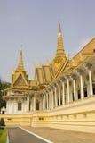 Royal Palace Phnom Penh, Cambodja Arkivbild