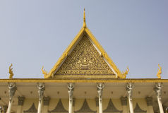 Royal Palace, Phnom Penh, Kambodja Royalty-vrije Stock Afbeeldingen