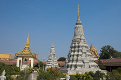 Royal palace of phnom penh pagoda Stock Image