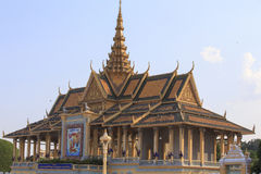 The royal palace of Phnom Phen on a sunny April morning Stock Image