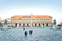 Royal Palace in Plebiscito Square - Naples, Italy Royalty Free Stock Photos