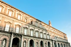 Royal Palace in Plebiscito Square - Naples, Italy Stock Photos
