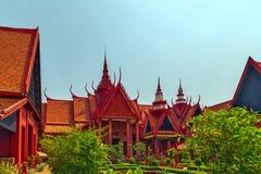 Royal Palace Pnom Penh, εξωτερικό του Εθνικού Μουσείου Cambodi Στοκ φωτογραφίες με δικαίωμα ελεύθερης χρήσης