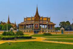 Royal Palace Pnom Penh, περίπτερο της Καμπότζης Chanchhaya Στοκ εικόνες με δικαίωμα ελεύθερης χρήσης