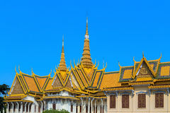 Royal Palace Pnom Penh, berömda Cambodja Fotografering för Bildbyråer