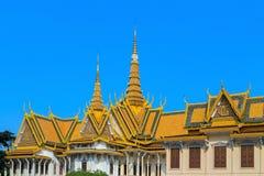 Royal Palace Pnom Penh, beroemd Kambodja Stock Afbeelding