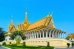 Royal Palace Pnom Penh, Cambodge Images libres de droits