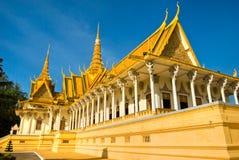 Royal palace in Pnom Penh, Cambodia. Royal palace in Pnom Penh before Sunset, Cambodia Royalty Free Stock Photos
