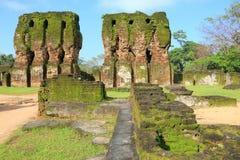 Royal Palace, Polonnaruwa nello Sri Lanka Immagini Stock