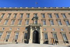 Royal Palace powierzchowność, Sztokholm Obraz Royalty Free